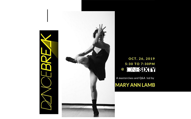 DanceBreak Master Class and Q&A led by Mary Ann Lamb